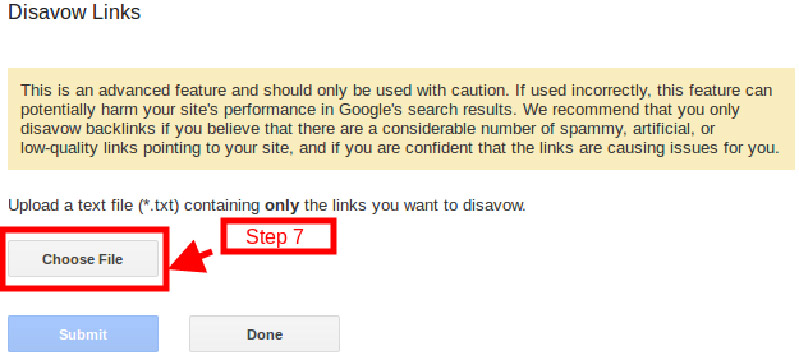 disavow-link-step 7
