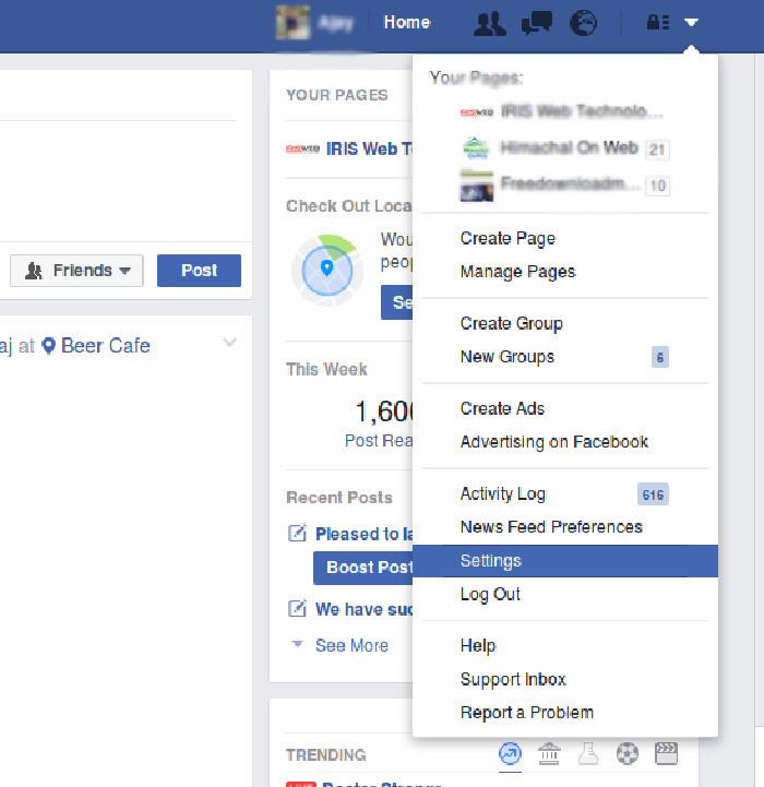 facbook-Setting